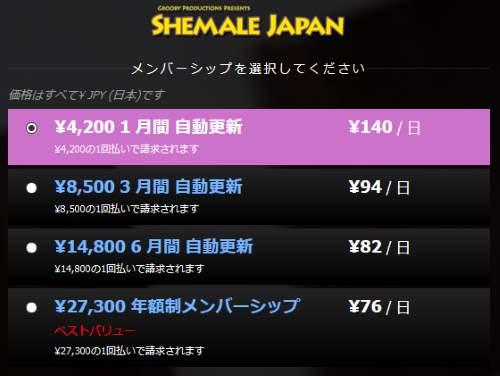 SHEMALE JAPAN(シーメールジャパン)入会と評価・口コミ2